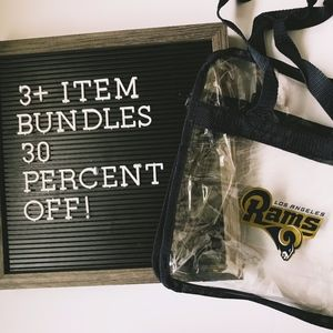 Rams Football Clear Stadium Tote
